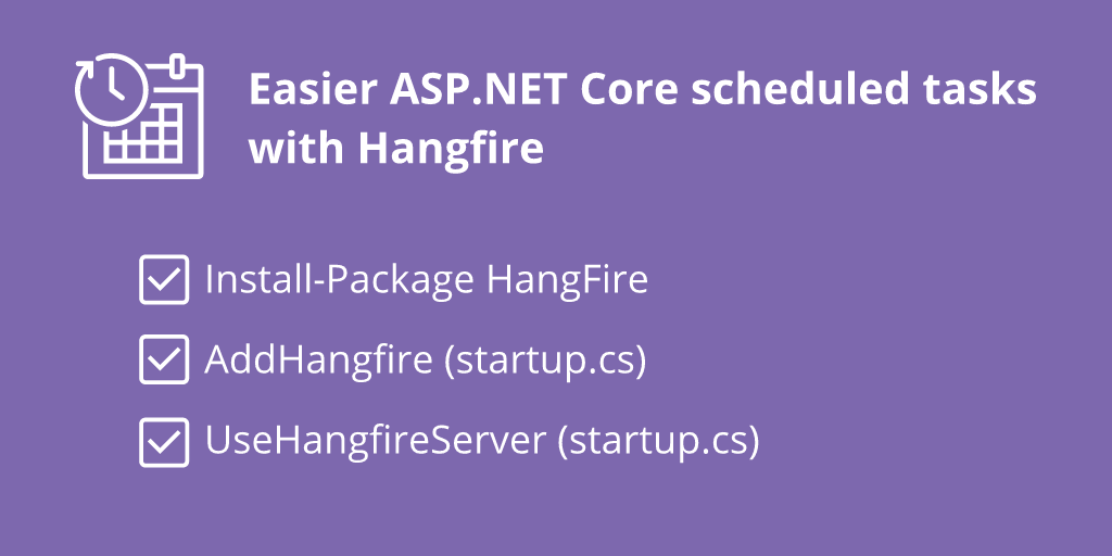 Simple Background Jobs With Hangfire and ASP.NET Core