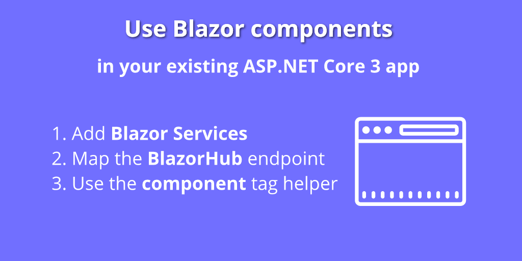 Use Blazor in your existing ASP.NET Core 3.x application