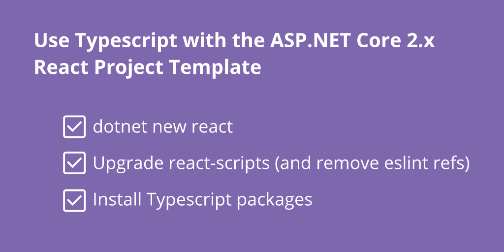 How to use Typescript with the ASP NET Core 2 x React