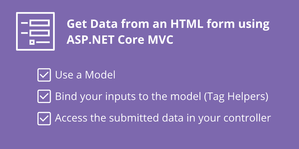 How to get data from an HTML form to your ASP NET MVC Core Controller