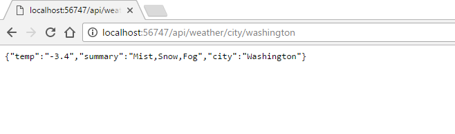 Fetch the current weather using ASP NET Core Web API and