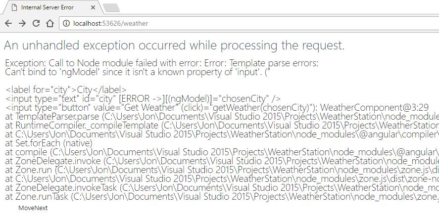 Send form input via an Angular 2 component to ASP NET Core Web API