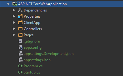 Starting out with the ASP.NET Core React template